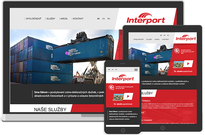 Webdesign for Interport